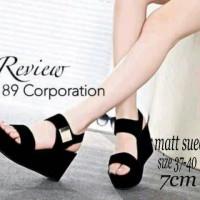 harga Sandal wanita wedges T135 hitam [ sepatu / sendal cewek ] Tokopedia.com