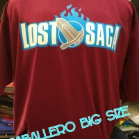 KAOS LOST SAGA GAME BIG SIZE, BAJU LOST SAGA BIG SIZE