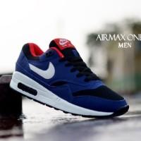 Sepatu Nike Air Max One Nevy List Putih Size 40-44 Murah