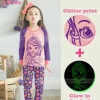 pakaian anak perempuan / 169i baju setelan kaos piyama sofia glow