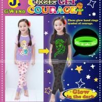 pakaian anak perempuan / 180j baju setelan kaos piyama frozen glow