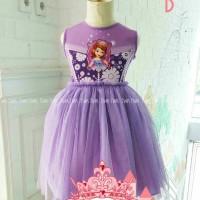 pakaian anak perempuan / nak5b baju setelan dress sofia the first
