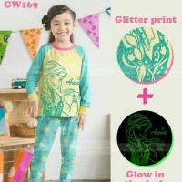pakaian anak perempuan / 169k baju setelan kaos piyama frozen glow