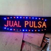 jual papan tulisan lampu led sign JUAL PULSA [ cocok untuk konter hp ]