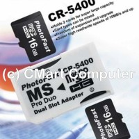 PhotoFast MicroSD to MS Pro Duo Adapter Dual Slot Micro SD PHF-CR-5400
