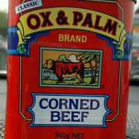 Jual CORNED BEEF OX & PALM 340g net /daging sapi/instan food Murah