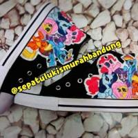 Sepatu Lukis My Little Pony sneaker converse kids size 24-40