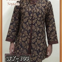 Jual Blouse Batik Wanita/ Atasan Wanita/ Baju Kemeja Wanita Batik Kerja 01 Murah