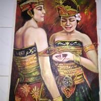 Lukisan Dua Orang Penari Bali