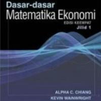 harga Dasar-dasar Matematika Ekonomi (jilid 1) (edisi 4) Tokopedia.com
