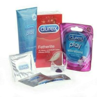 Durex play vibration ring + intimate lube 100ml + fetherlite 12pcs