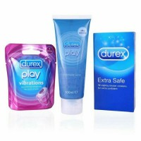 Durex play vibration ring + intimate lube 100ml + extra safe 12 pcs