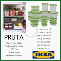 Ikea Pruta Set 17pc Original food container box murah