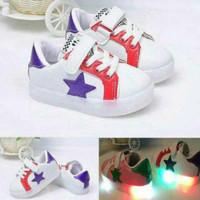 harga sepatu anak nyala/ sepatu led star import Tokopedia.com