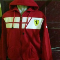 harga Jaket, sweater, switer, hoodie zipper Ferrari Red Tokopedia.com