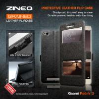 Xiaomi Redmi 3 Leather armor bumper cover dompet sarung flip case gaul