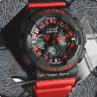 Jam Tangan Cowok Keren Dan Sporty Digitec Limited Edition Red