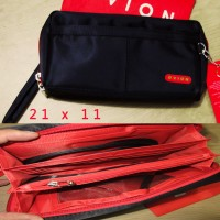Dompet Handbag Pria Wanita Resleting Kulit IMport HP An Berkualitas