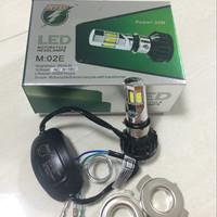 Lampu LED Motor Bohlam Utama LED 6sisi RTD ASLI M:02E AC/DC