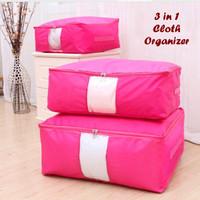 3 in 1 Cloth Organizer ROSE PINK ( 1 set isi 3 pcs ukuran berbeda )