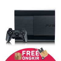Ps3 Super Slim + Hdd 500gb + 2 Stick Getar + Full Games