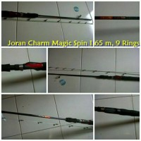 Jual Joran Full Fiber Super Lentur Charm Magic Spin 1.65 m Murah