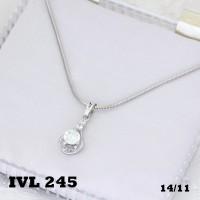 harga Kalung Lapis Emas Putih Batu Zircon Xuping Tokopedia.com