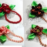 Bros Jilbab/ Pashmina / Brooch/ Hiasan Jilbab.bros bunga mekar mutiara