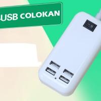 Colokan Listrik 4 in 1 Cas Charge Colok Handphone Konektor Kabel Oppo
