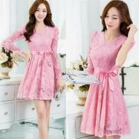 harga Wilona Pink Panjang [Dress 0108] Tokopedia.com