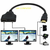 HDMI Port Male to 2Female 1 In 2 Out Splitter Cable Adapter Converter