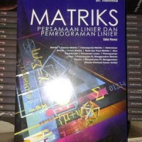 buku MATRIKS PERSAMAAN LINIER DAN PEMROGRAMAN LINIER