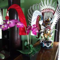 Dompet Ornamen Umbul-Umbul Merah/Putih 50 cm Asli Bali