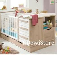 Box bayi, tempat tidur, ranjang, dipan bayi minimalis modern kayu jati