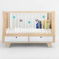 Tempat tidur bayi, ranjang bayi, box bayi kayu minimalis jati modern