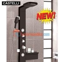 CASTELLI RAIN SHOWER air terjun dan jet spa relaksasi (BLACK) 1276040