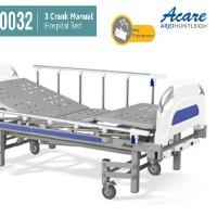 Acare Hospital Bed / Ranjang Pasien - 3 Crank Manual ACARE Plus Matras