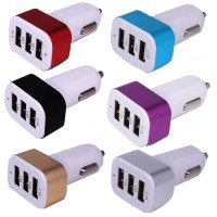 Colokan USB Rokok 3 in 1 Colok Mobil Cas Charge Hp Android Samsung Red
