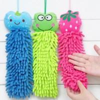 Hand Towel LAp Pembersih Tangan Microfiber Chennile KArakter lucu Cart