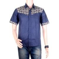 Kemeja Batik | Hem Batik Kombinasi Motif Kawung - Bisa Seragam