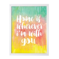 harga Home 30x40cm Wall Decor Hiasan Dinding Frame Kayu Quote Art Prints Tokopedia.com