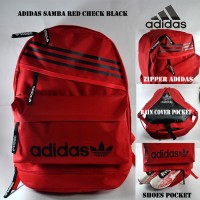 Tas Ransel Adidas Samba Red Check Black
