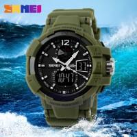 Jam Tangan LED Motif Militer / SKMEI Military Men Sport LED Watch
