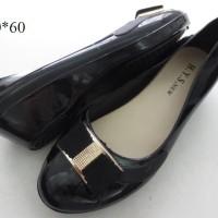 harga sepatu jelly wedges pita hitam Tokopedia.com