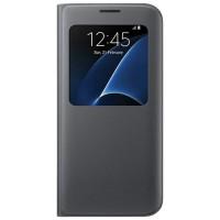 SAMSUNG S-VIEW Flip Cover Galaxi S7 Edge,Black,Gold,Silver(Original)