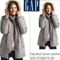 harga GAP grey puffer furr parka jaket winter original branded A528 Tokopedia.com