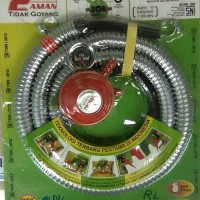 Selang gas regulator double safety lock Poligas