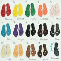 sendal jepit isrin isran >>rainbow