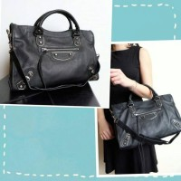 JUAL TAS BALENCIAGA CITY EDGE LAMBSKIN GRAINED LEATHER MIRROR QUALITY