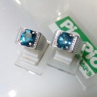 harga Cincin Perak Laki Batu Blue Topas (london) Tokopedia.com